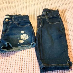 Two girls shorts.